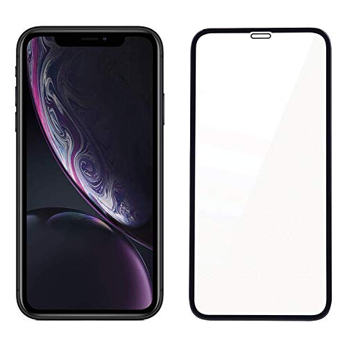 POPIO Edge to Edge Tempered Glass Screen Protector for Apple iPhone XR/iPhone 11 (Black) With Installation Kit
