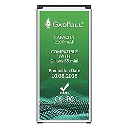 Kaufen GadFull Akku für Samsung Galaxy S5 Mini   2018 Baujahr   Wie EB-BG800BBE   Lithium-Ionen-Akku der Modelle SM-G800F   Duos SM-800H   Ersatz Handy-Akku für Ihr Smartphone