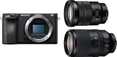 Sony α 6500 + 18-105mm + 70-300mm Juego de cámara SLR 24,2 MP CMOS 6000 x 4000 Pixeles Negro - Cámara Digital (24,2 MP, 6000 x 4000 Pixeles, CMOS, 4K Ultra HD, Pantalla táctil, Negro)