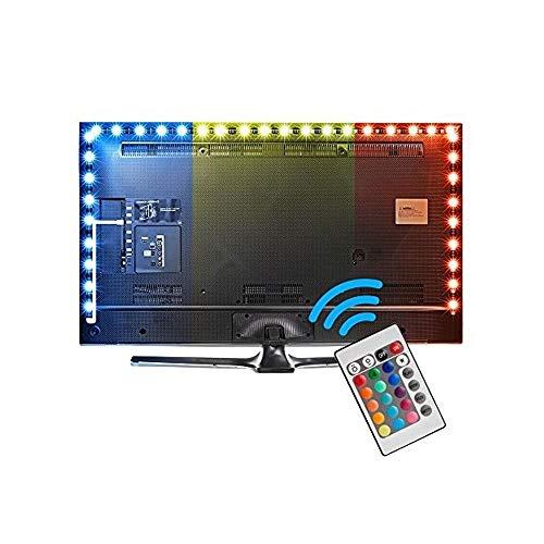 Striscia Led Retroilluminazione, Led TV Retroilluminazione 3 m Striscia LED RGB USB Con Telecomando,...
