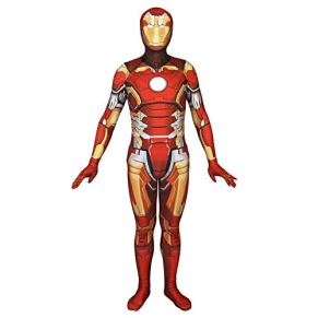 QQWE Iron Man Cosplay Body Elástico Pantys Disfraz Disfraz De Halloween Show Costume Props Marvel Hero Juego De rol Set Completo De Ropa,A-L