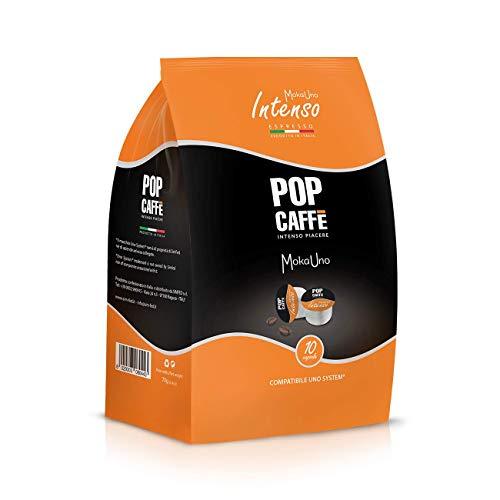 50 CAPSULE POP CAFFE' MOKA-UNO 1 INTENSO COMPATIBILI UNO SYSTEM ILLY KIMBO