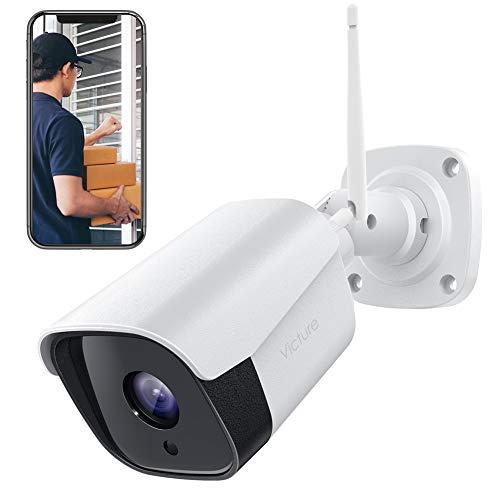 Telecamera Esterna, Victure FHD 1080P Telecamera di Sicurezza con Rilevazione Movimento Telecamera WiFi con IP66 Visione Notturna Impermeabile 2 Vie Audio Compatibile con IOS/Android
