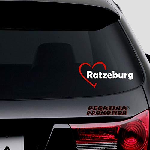 Pegatina Promotion Herzstadt I Love Ratzeburg Ca 20cm Aufkleber Autoaufkleber Herz Liebe Aufkleber Sticker Decal Auto Uv Waschanlagenfest