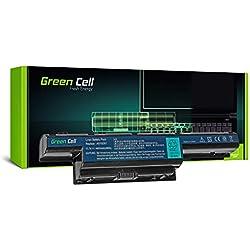 Green Cell® Standard Serie AS10D31 AS10D3E AS10D41 AS10D51 AS10D61 AS10D71 AS10D73 AS10D75 AS10D81 Batería para Acer / eMachines / Packard Bell Ordenador (6 Celdas 4400mAh 11.1V Negro)