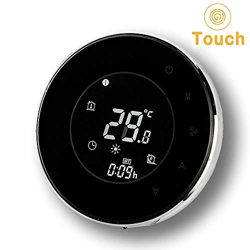 Thermostat programmable, Arxus moderne intelligent écran tactile LCD rond 3/16A Thermostat de la salle programmable pour l'eau, électrique, chauffage de la chaudière