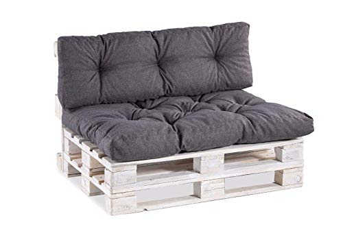 Cuscino per bancale, Cuscini per Pallet Divani, Seduta, Schienale,Trapuntato PP (Seduta 120x60,...