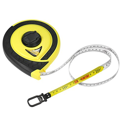 Walmeck Long Tape Measure Fiberglass Measuring Ruler Double Sided Scale Metric Tape For Construction Masonry Carpentry 30m Multi