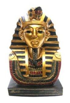 Busto egipcio dorado decorativo de Tutankamón, regalos decorativos del antiguo Egipto, PDS