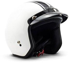 ARROW HELMETS AV-47 Pilot Vespa-Helm Jet-Helm Scooter-Helm Helmet Chopper Biker Mofa Retro Vintage Bobber Cruiser Motorrad-Helm Roller-Helm, Dot Zertifiziert, inkl. Stofftragetasche 16