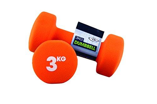 Fitness-Mad, Manubri 3 kg in neoprene (coppia)