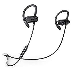 Kaufen Soundcore Spirit X Bluetooth Kopfhörer von Anker, mit Bluetooth 5.0/12 Stunden Akkulaufzeit/IPX7 SweatGuard Technologie/Mikrofon/Super Halt und Fantastischem Sound, für iPhone, iPad, Samsung, Huawei, HTC und mehr (Schwarz)