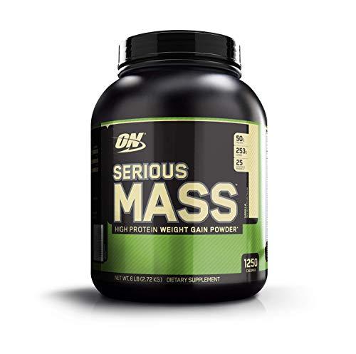 Optimum Nutrition Serious Mass, proteine in polvere per aumento massa muscolare, gainer, Vaniglia 2.73 Kg