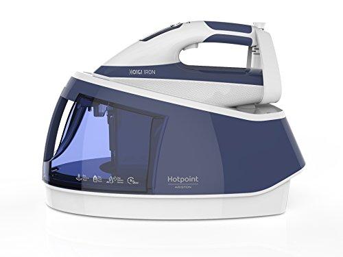 Hotpoint SG C12 Dew Ferro da Stiro a Caldaia, 2500 W, 2 Litri, Bianco/Blu