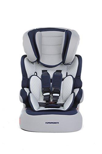 Foppapedretti Babyroad Seggiolino Auto, Gruppo 1/2/3 (9-36kg), per Bambini da 9 mesi fino a 12 anni, Blu (Ocean)