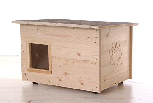 katzeninfo24.de Katzenhaus – Katzenhütte (Boden und Wände wärmegedämmt)