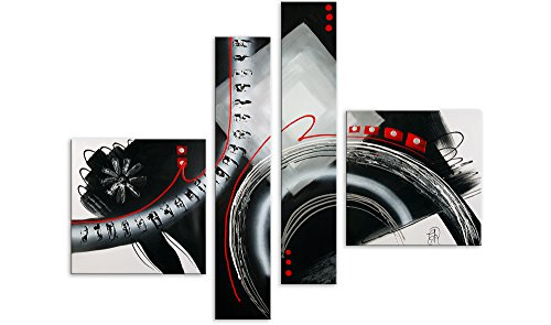 Arte dal Mondo AY028QX1 Astratto Dipinto Composto, Astratto, Telaio Estetico, Multicolore