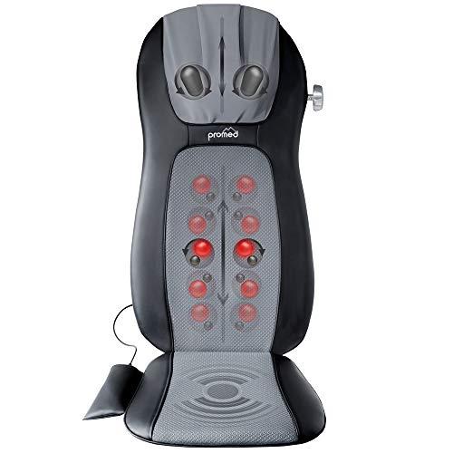 Seduta Massaggiante Promed Msa-900 con Funzione Termica, Tappetino Massaggiante, Massaggiatore Schiena per Massaggio Shiatsu Lenitivo Benefico con Diverse Zone di Massaggio