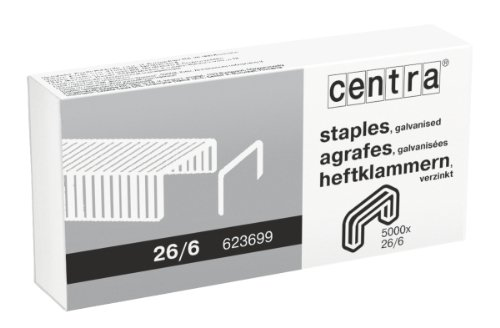 Centra punti 26/6mm, zincato, confezione da 5000