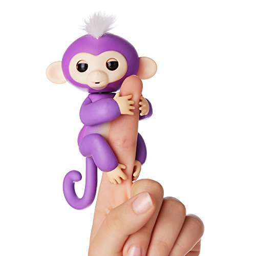 WowWee Fingerlings Mini Scimmietta Robotica Interattiva, Viola