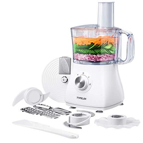 Robot da Cucina, 2 Velocità Robot da Cucina Multifunzione, 5 Accessori, Capacità 1.2l, Potenza 500...