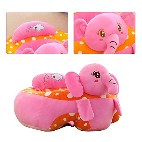 Divano per bambini,Bloomma Divano in cotone per bambini Supporto in pelle per divano 4 diversi tipi di peluche Morbido modello animale Seduta da bambino per più di 3 mesi
