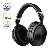 Mpow H5 Cuffie Bluetooth, Cuffie Cancellazione Attiva del Rumore, Autonomia 30 Ore,Cuffie Wireless Con Audio Stereo Hi-Fi, Noise Cancelling Active Headphones, Cuffie Over Ear Per PC/Telefoni/TV /Ipad