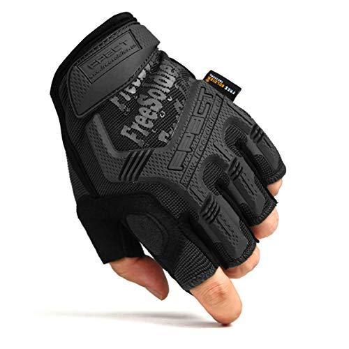 FREE SOLDIER Sport Handschuhe Taktische Motorradhandschuhe Herren Halbfinger Vollfinger Handschuhe mit gepolstertem Ideal für Fahrrad Airsoft Militär Paintball Kletter und andere Outdoor Aktivitäten 11