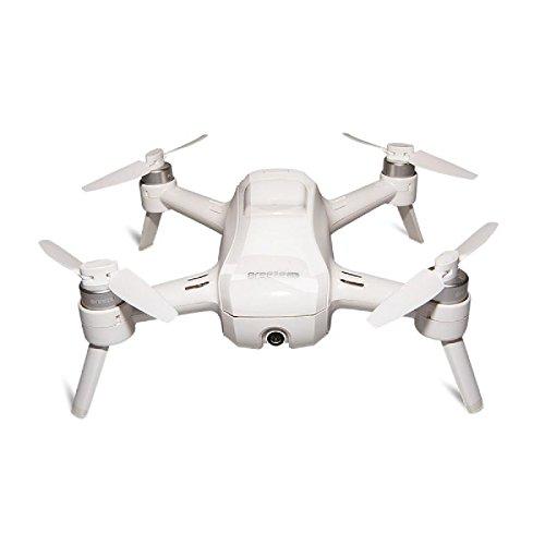 Yuneec Breeze - Quadricottero compatto con fotocamera Premium 4K UHD (24 cm di diametro, funzione video, 13 MP) e set controller e 2 batterie bianche