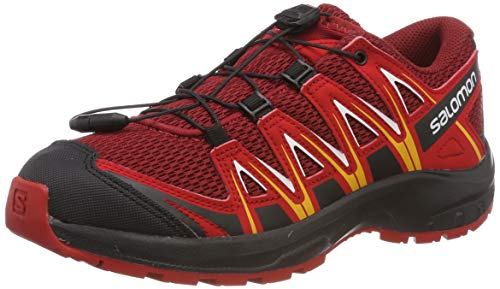 Salomon Kinder XA Pro 3D J, Trailrunning-Schuhe, Rot (Red Dahlia/Barbados...