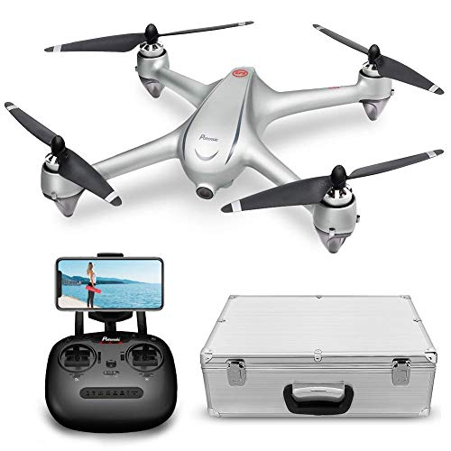 Potensic Drone GPS con Motore Brushless Drone D80 WiFi con Telecamera 1080P HD Dual GPS con Funzione di RTH, Altitudine Attesa, Allarme di Bassa Pressione e Segnale Debole Dotato di Valigetta