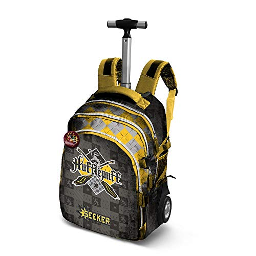 Harry Potter Quidditch Hufflepuff-Travel Trolley-Rucksack Zaino Casual, 28 liters, Giallo