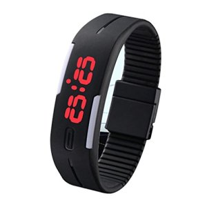 Sky Mart New Arrival Special Collection Black Color Unisex Silicone Digital LED Band Wrist Watch for Boys, Girls, Men, Women 1  Sky Mart New Arrival Special Collection Black Color Unisex Silicone Digital LED Band Wrist Watch for Boys, Girls, Men, Women 41kpX5B 2BcNL