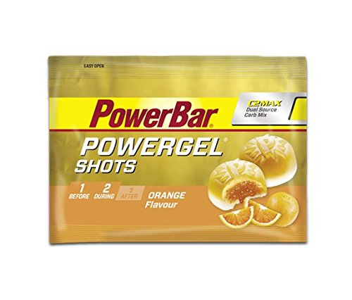 PowerGel Shots PowerBar 8 Sobres (72 Gominolas) Naranja