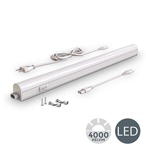 Lampada sottopensile cucina LED, luce bianca naturale 4000K, LED integrati da 8W, lunghezza 57.3cm,...