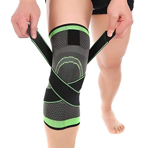 Tutore per ginocchio, Aisprts Antiscivolo Fascia per ginocchio durante la corsa o lo sport, per un...