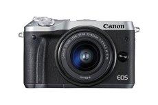 Canon EOS M6 - Cámara EVIL de 24.2 MP (pantalla táctil de 3.0'', DIGIC 7, NFC, Dual Pixel CMOS AF, Bluetooth, 5 - Axis Digital IS, Full HD, WiFi) plata - kit cuerpo con objetivo EF-M 15-45