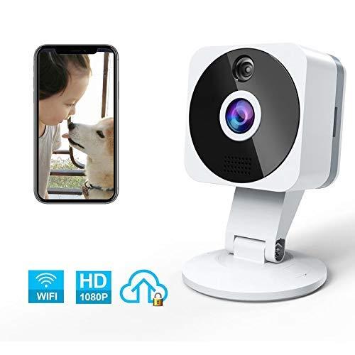 Telecamera Wi-fi Internosenza fili, NIYPS Full HD 1080P Videocamera Sorveglianza Wifi con Audio Bidirezionale, Sensore di Movimento e Visione Notturna, TelecameraIP per Baby Monitor, Bambini/Cani