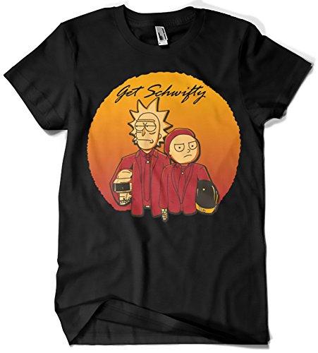 Camisetas La Colmena, 199-Camiseta Rick y Morty Get Schwifty Daft Punk (Legendary P)