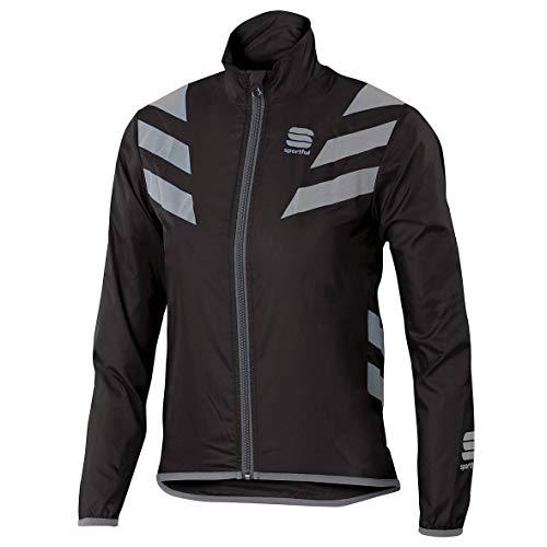 SPORTFUL-Reflex Jacket Junior, Colore: Nero, Argento, Taglia 6/