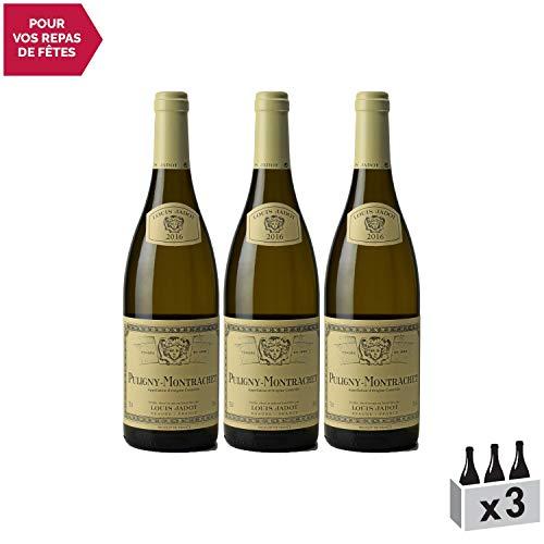 Puligny-Montrachet Blanc 2016 - Louis Jadot - Vin AOC Blanc de Bourgogne - Cépage Chardonnay - Lot de 3x75cl