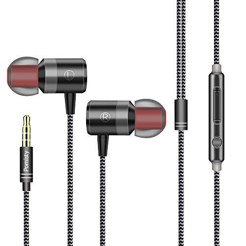In Ear Auricolari con Microfono ,2019 Nuovo Pomisty Cavo Auricolari et Microphone Stereo 3.5 m...