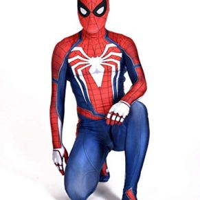SPIDERMANHTT Fiesta de disfraces de Halloween Fiesta temática Accesorios de película Spiderman Anime Ropa Medias Niño Adulto Impresión 3D Spandex Lycra (Color : Adult, Size : M)