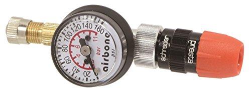 EyezOff EZ618A de presión de neumáticos medir 160 PSI, válvula Reversible (Presta/Schrader) camisa modelo inflable
