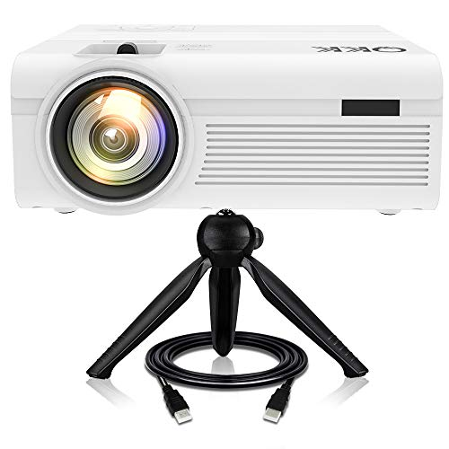 Proiettore QKK [Con Treppiede], Mini Proiettore 3600 Lumens, Video Proiettore Supporta 1080P Full...