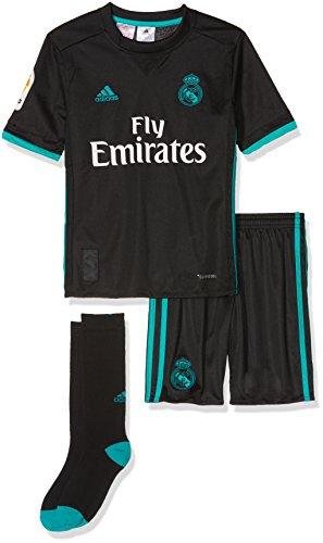 adidas Real Madrid Mini Kit Temporada 2017/2018, Niños, Negro (NEGRO/ARRAER), 128