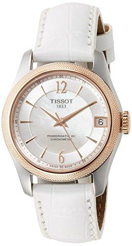 Tissot Damen-Uhren Analog Automatik One Size Leder 87201554