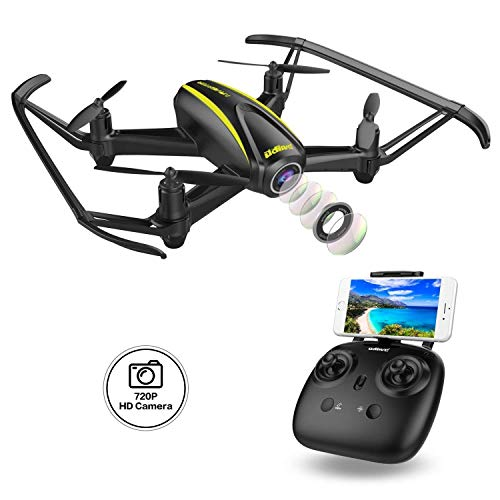 DROCON Navigator Drone Per Ragazzi Con Telecamera HD (1280 x 720p) e Grandangolare 120° Quadrirotore Wi-Fi FPV Con Altitude Hold ed Headless Mode Per Principianti