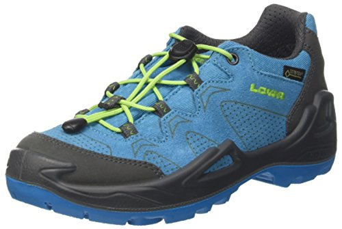 Lowa Unisex-Kinder Diego GTX Lo Trekking- & Wanderstiefel, Blau (Blue/Limone...