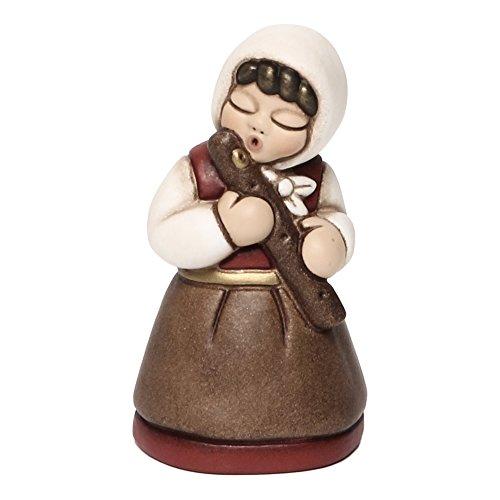 THUN - Donna con Flauto - Versione Rossa - Statuine Presepe Classico - Ceramica - I Classici
